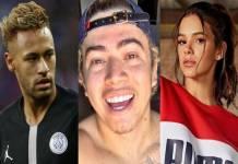 Neymar, Whindersson Nunes e Bruna Marquezine - Montagem/Área VIP