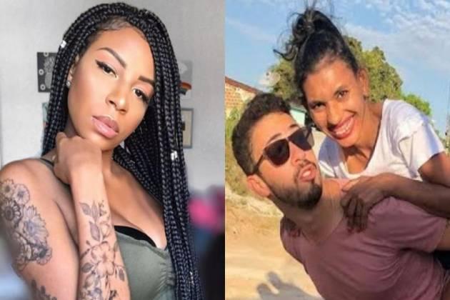 Luane Dias, Carlinhos Maia e Branca - Montagem/Área VIP