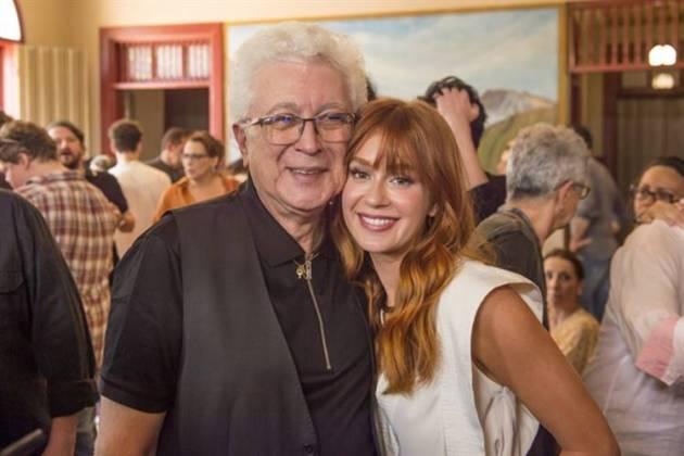 Aguinaldo Silva e Marina Ruy Barbosa (Globo/João Cotta)