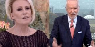 Ana Maria Braga e Alexandre Garcia - Reprodução/TV Globo