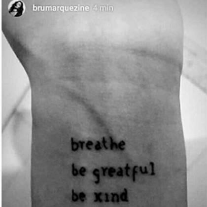 Tatuagem de Bruna Marquezine - Reprodução/Instagram
