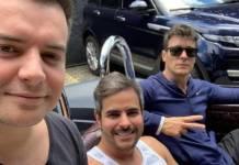 Bruno Belutti, Kaká Diniz e Rodrigo Faro - Reprodução/Instagram
