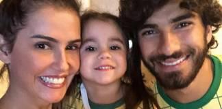 Deborah Secco, Maria Flor e Hugo Moura / Instagram