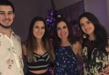 Fátima Bernardes, Beatriz, Laura e Vinicius