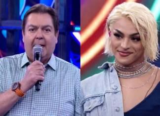 Faustão e Pabllo Vittar - Reprodução/TV Globo