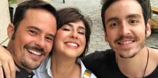 Fernanda Paes Leme, Paulo Vilhena e Wagner Santisteban