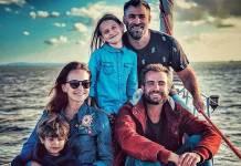 Fernanda Rodrigues, família e Max Fercondini