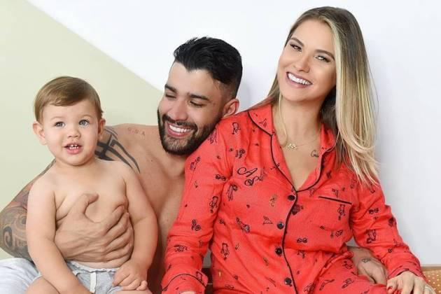 Gabriel, Gusttavo Lima e Andressa Suita / Reprodução: Instagram