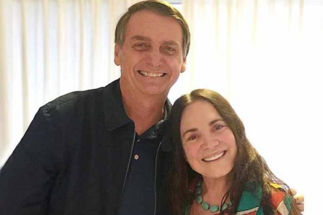 Jair Bolsonaro e Regina Duarte - Reprodução/Instagram