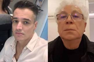 Leo Dias e Aguinaldo Silva - Reprodução/Instagram