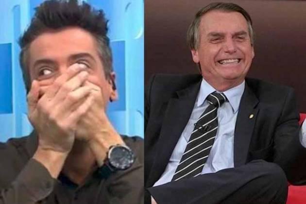 Leo Dias e Bolsonaro - Reprodução/SBT/Instagram