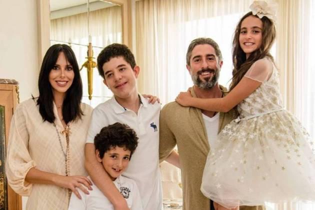 Suzana Gullo, Stefano, Romeo, Marcos Mion e Donatella - Reprodução: Instagram