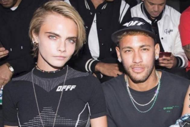 Neymar Jr. e Cara Delevigne/Instagram