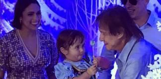 Roberto Carlos e a neta, Laura/Instagram