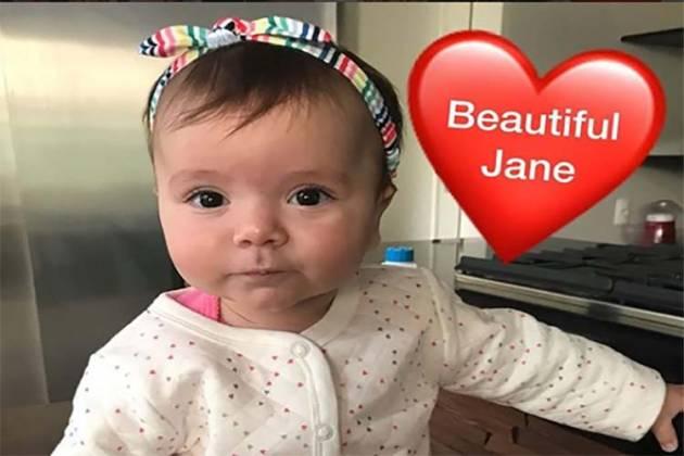 Jane, filha de Patrícia Abravanel e Fabio Faria /Instagram