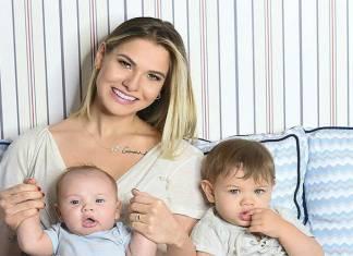 Andressa Suita e os filhos, Gabriel e Samuel/Instagram