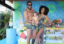 Sheron Menezes, Benjamin e Saulo / Instagram