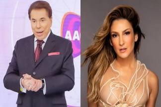 Silvio Santos e Claudia Leitte - Montagem/Área VIP