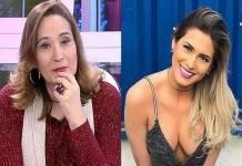 Sonia Abrão e Lívia Andrade - Montagem/Área VIP