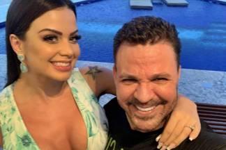 Eduardo Costa e a namorada (Foto: reprodução)