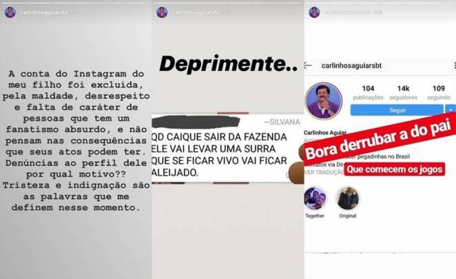 Carlinhos Aguiar - Reprodução: stories instagram