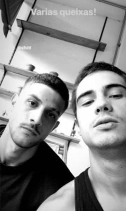 Chay Suede e Danilo Mesquita - Reprodução/Instagram