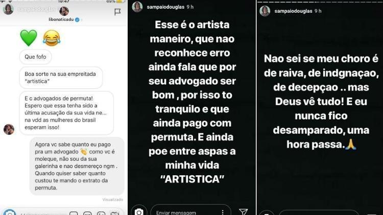Stories Douglas Sampaio - Reprodução/Instagram