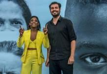 Erika Januza e Thiago Lacerda apresentam o evento Ponte (Globo/Fábio Rocha)