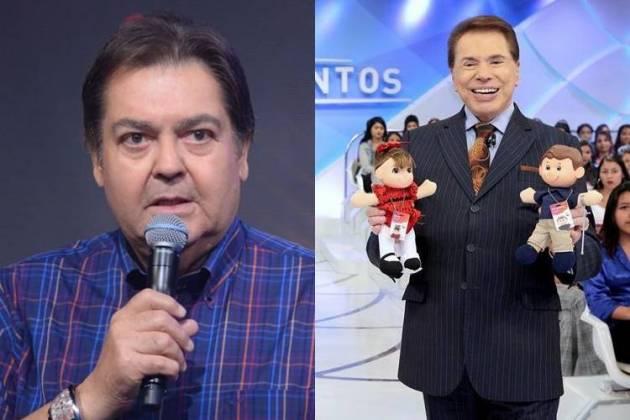 Fausto Silva e Silvio Santo / Reprodução: Instagram