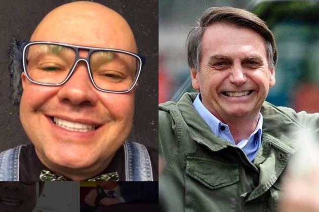 Felipeh Campos e Jair Bolsonaro - Reprodução/Instagram/Facebook