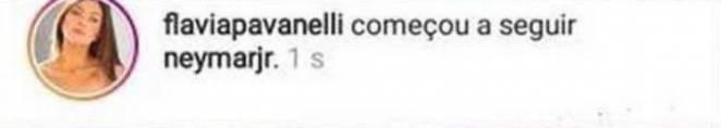 Flávia Pavanelli volta a seguir Neymar - Reprodução/Instagram