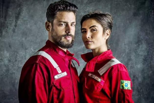 Ilha de Ferro - Dante e Julia (Globo/ Raquel Cunha)