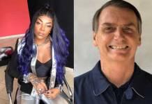 Ludmilla e Jair Bolsonaro - Reprodução/Instagram