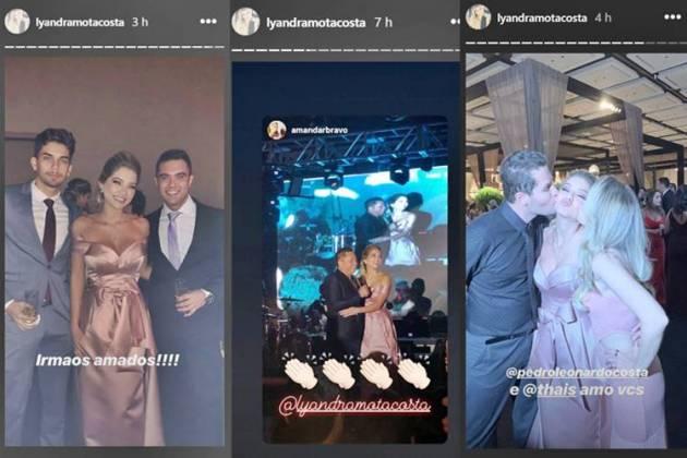 Lyandra com os irmãos - Leandro e Thiago - Leonardo - Pedro e Thais/Instagram