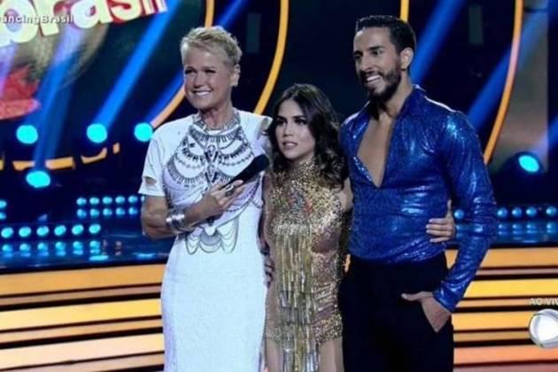 Pérola participa do Dancing Brasil (Foto: Reprodução/Record TV)