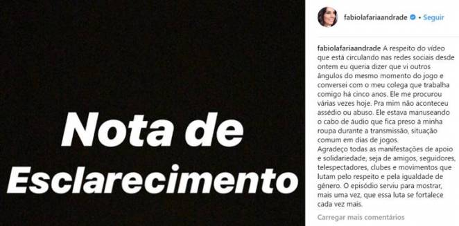 Post - Fabiola Andrade/Instagram