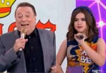 Raul Gil e Maísa Silva no Teleton
