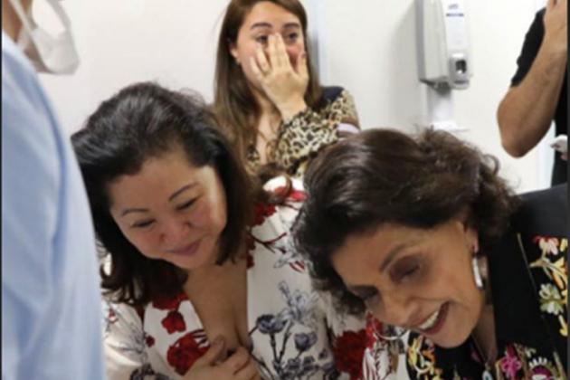 777d472fda39b Duda Nagle mostra reação de família após nascimento de Zoe - Área VIP