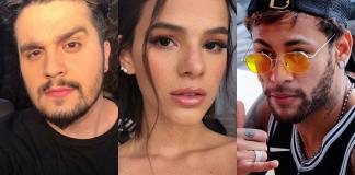 Luan Santana, Bruna Marquezine e Neymar - Reprodução:Instagram