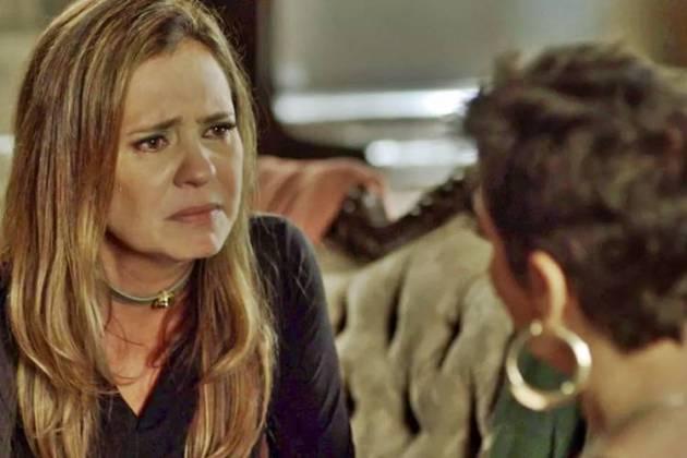 Segundo Sol - Laureta se emociona em conversa com Karola (Reprodução/TV Globo)