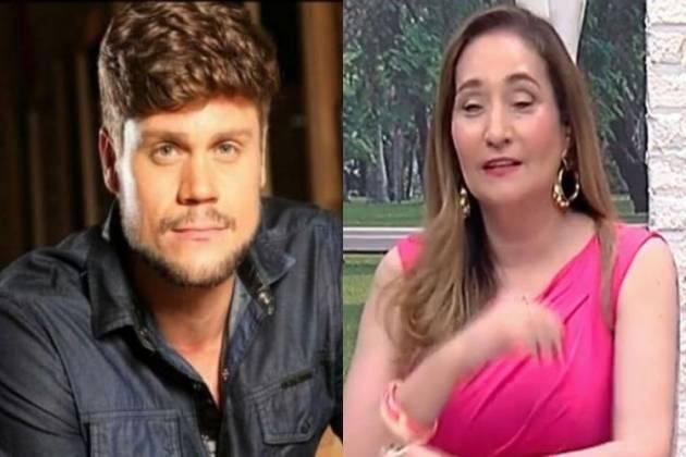 Breno Simões e Sonia Abrão - Montagem/Área VIP