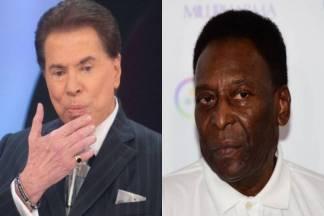 Silvio Santos e Pelé - Montagem/Área VIP