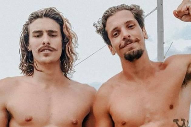 Bruno Montaleone e Caio/Instagram