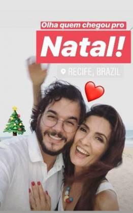 Fátima e Túlio (Foto: reprodução Instagram/Túlio)