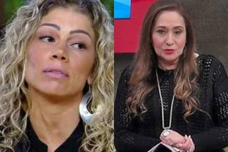 Catia Paganote e Sonia Abrão (Reprodução/RecordTV/RedeTV)