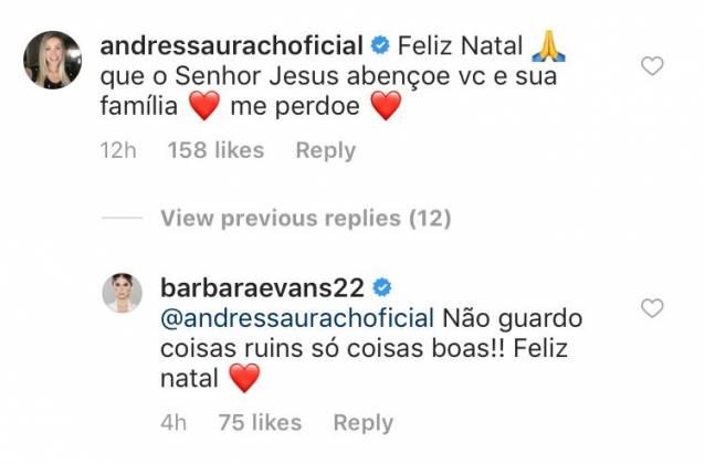 Comentário Andressa Urach - Reprodução/Instagram