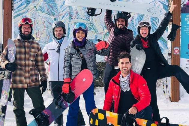 Famosos na neve/Instagram
