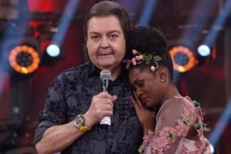 Faustão e Erika - Reprodução/Globo