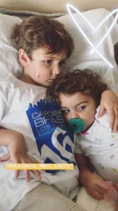 Joaquim e a irmã - Reprodução/Instagram
