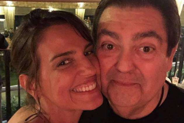 Luciana Cardoso e Faustão/Instagram